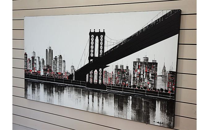 Puente de Brooklin balnco y negro- rf-603
