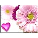 Flor malgarita Pétalo corazón - 6024